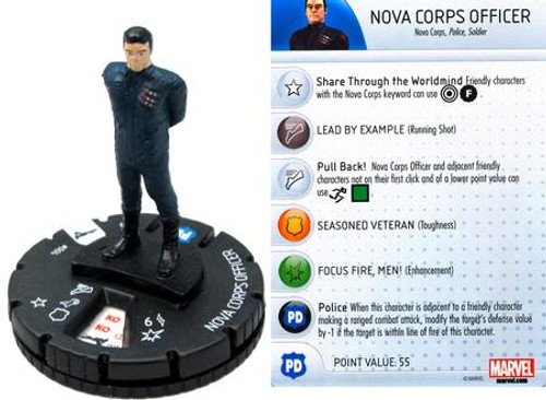 Marvel Guardians of the Galaxy HeroClix Nova Corps Officer #004