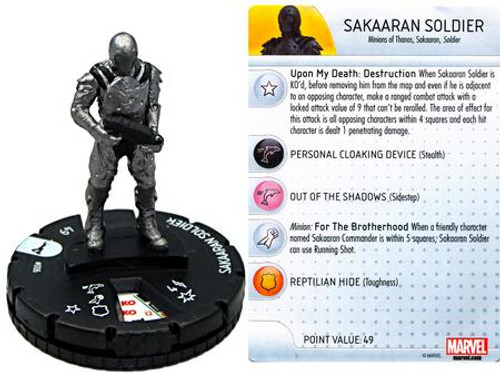 Marvel Guardians of the Galaxy HeroClix Sakaaran Soldier #006
