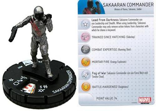 Marvel Guardians of the Galaxy HeroClix Sakaaran Commander #007