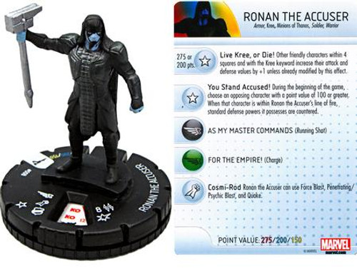Marvel Guardians of the Galaxy HeroClix Ronan the Accuser #008