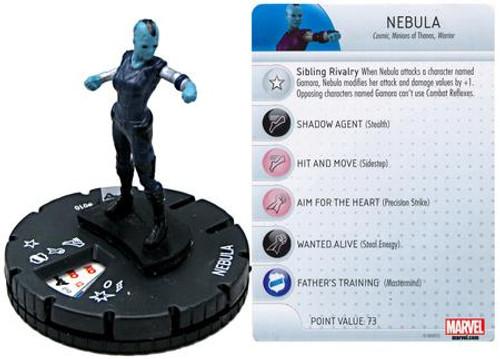 Marvel Guardians of the Galaxy HeroClix Nebula #010