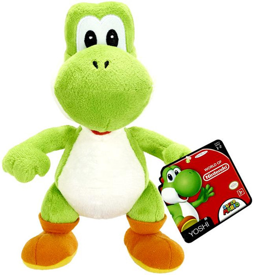 World of Nintendo Super Mario Green Yoshi 7-Inch Plush