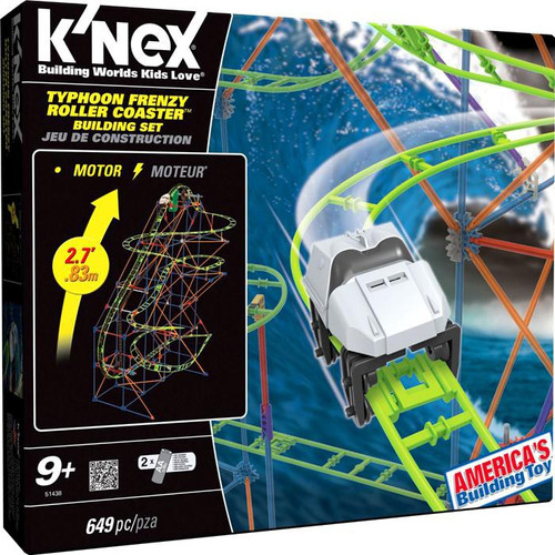 K'Nex Typhoon Frenzy Roller Coaster Set #51438