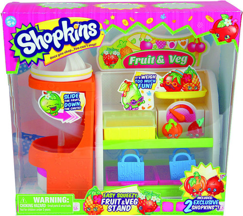 Shopkins Easy Squeezy Fruit & Veg Stand Playset
