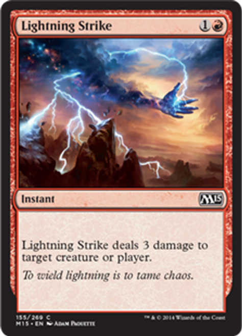 MtG 2015 Core Set Common Lightning Strike #155