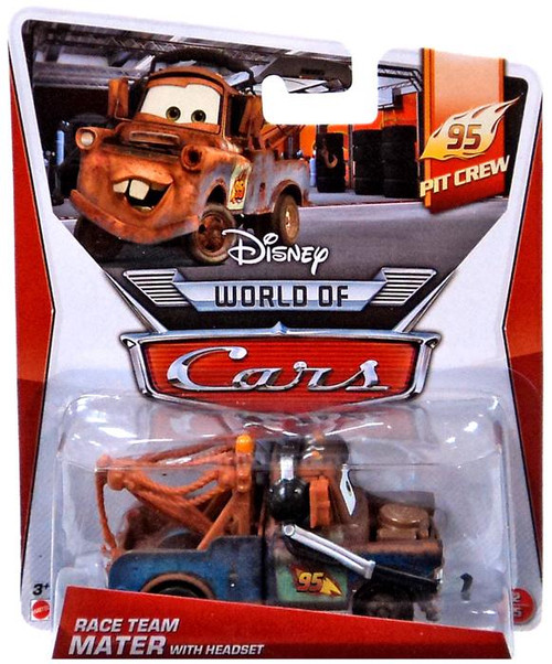 Disney / Pixar Cars The World of Cars Main Series Race Team Mater with Headset Diecast Car #2 of 5