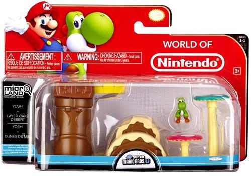 World of Nintendo New Super Mario Bros U Micro Land Playset Yoshi & Layer Cake Desert Playset