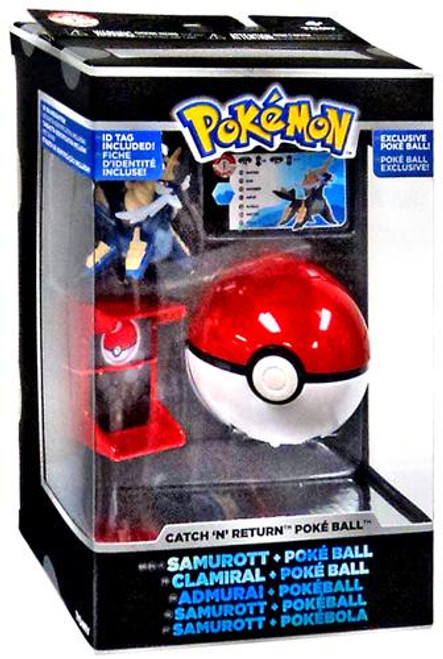 Pokemon Catch n Return Pokeball Samurott & Poke Ball Trainer's Choice Figure