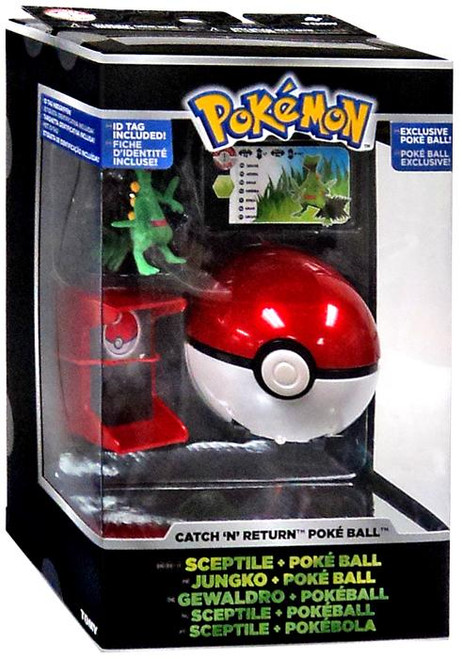 Pokemon Catch n Return Pokeball Sceptile & Poke Ball Trainer's Choice Figure