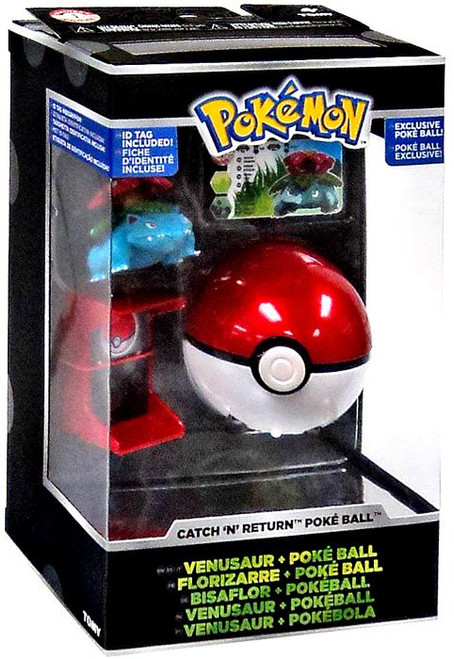 Pokemon Catch n Return Pokeball Venusaur & Poke Ball Trainer's Choice Figure