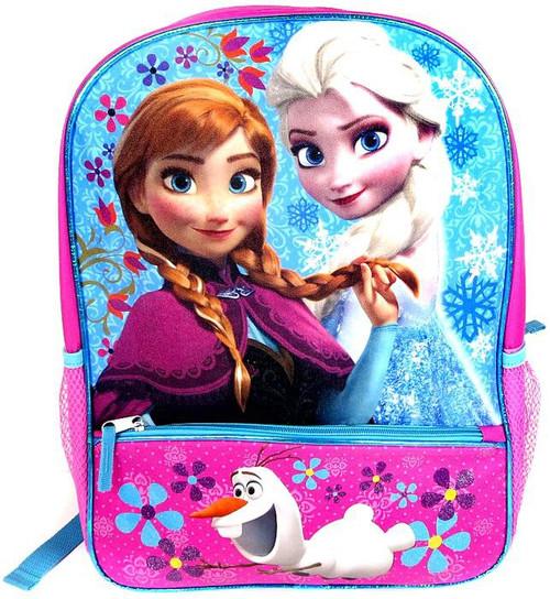 Disney Frozen Anna, Elsa & Olaf Flowers Backpack [With Pencil Pocket]