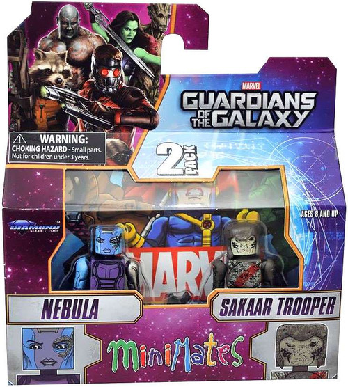 Marvel Guardians of the Galaxy Minimates Series 57 Nebula & Sakaar Soldier 2-Inch Minifigure 2-Pack