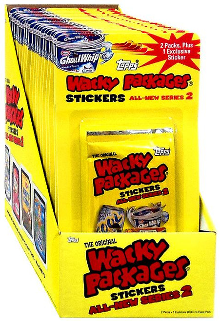 Wacky Packages Topps 2005 All-New Series 2 Trading Card Sticker BLISTER Box [40 Packs]