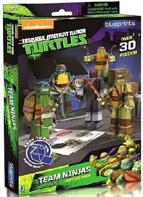 Teenage Mutant Ninja Turtles Nickelodeon Team Ninja Turtle Pack Papercraft