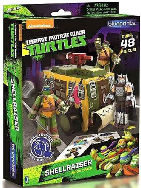 Teenage Mutant Ninja Turtles Nickelodeon Papercraft Shellraiser Vehicle Pack