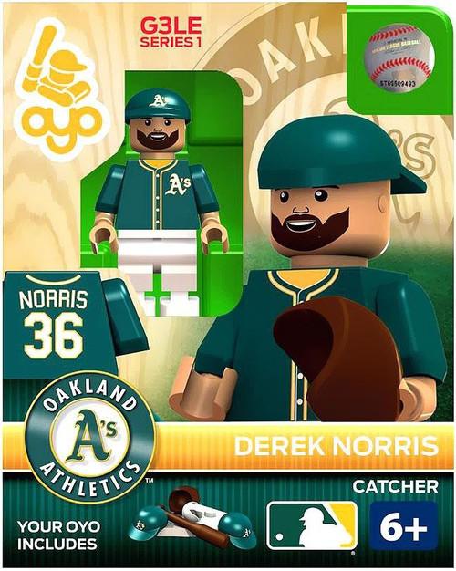 Oakland A's MLB Generation 3 Derek Norris Minifigure P-MLBOAK16-G3LE