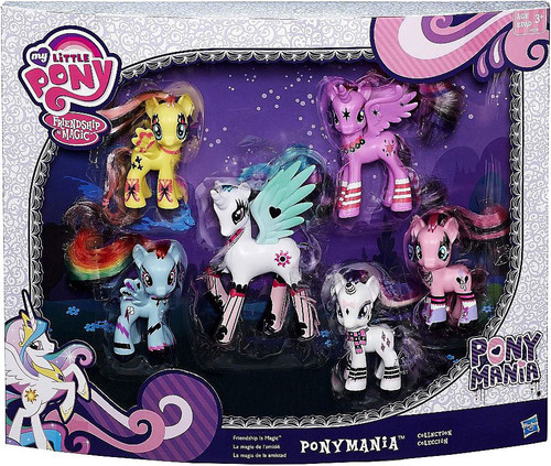 My Little Pony Ponymania Collection Exclusive 3-Inch Figure 6-Pack