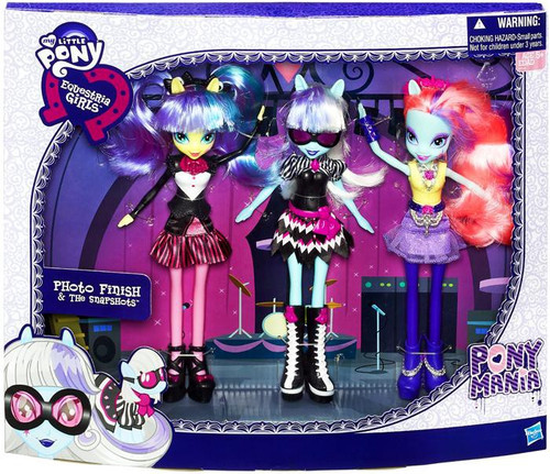 My Little Pony Equestria Girls Ponymania Photo Finish & The Snapshots 9-Inch Doll 3-Pack