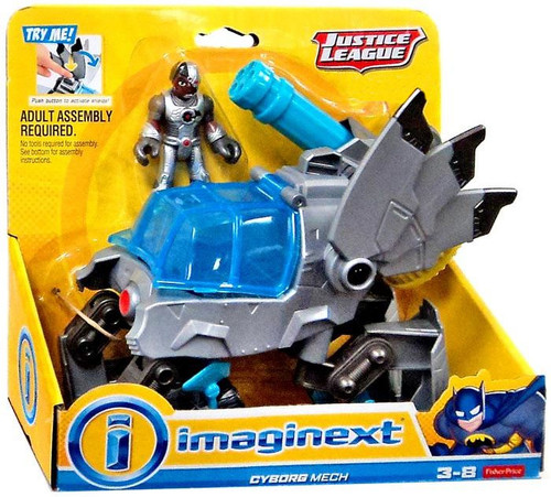 Fisher Price DC Imaginext Justice League Cyborg Mech Exclusive Mini Figure Set