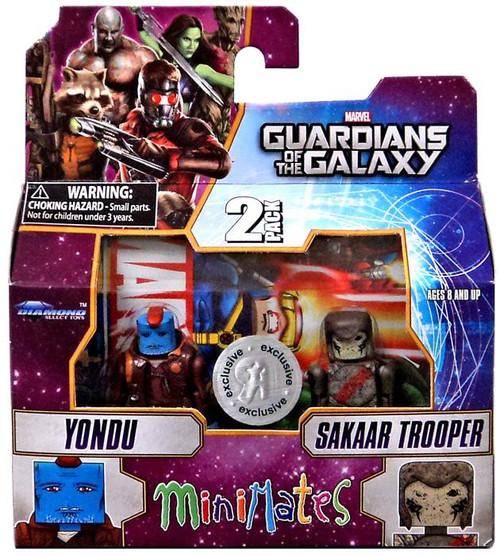 Marvel Guardians of the Galaxy Minimates Series 57 Yondu & Sakaar Trooper 2-Inch Minifigure 2-Pack