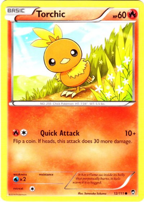 Pokemon X & Y Furious Fists Common Torchic #12