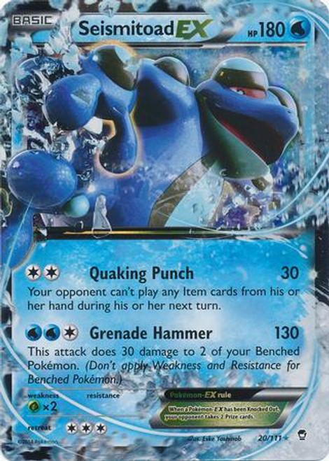 Pokemon X & Y Furious Fists Ultra Rare Seismitoad EX #20