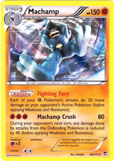 Pokemon X & Y Furious Fists Rare Holo Machamp #46