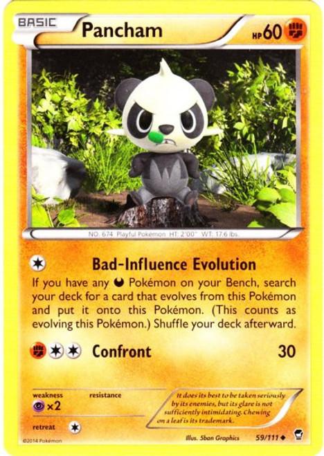 Pokemon X & Y Furious Fists Uncommon Pancham #59