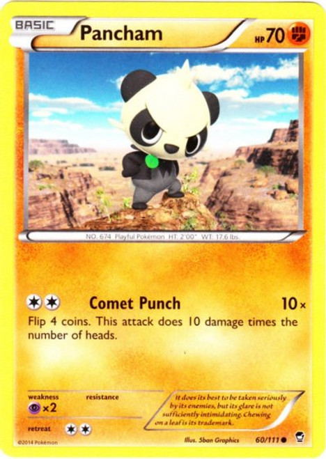 Pokemon X & Y Furious Fists Common Pancham #60