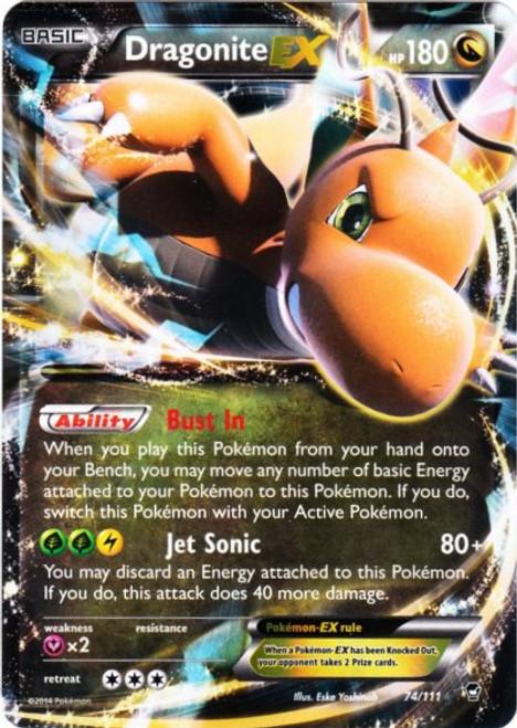 Pokemon X & Y Furious Fists Ultra Rare Dragonite EX #74