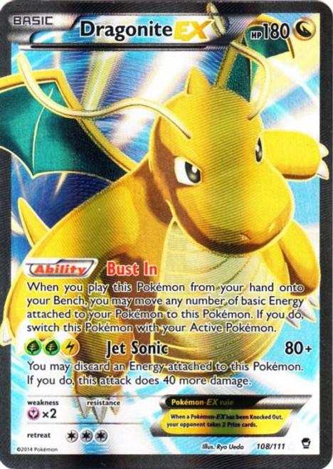 Pokemon X & Y Furious Fists Ultra Rare Full Art Dragonite EX #108