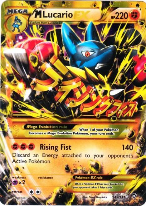 Pokemon X & Y Furious Fists Secret Rare M Lucario EX #113