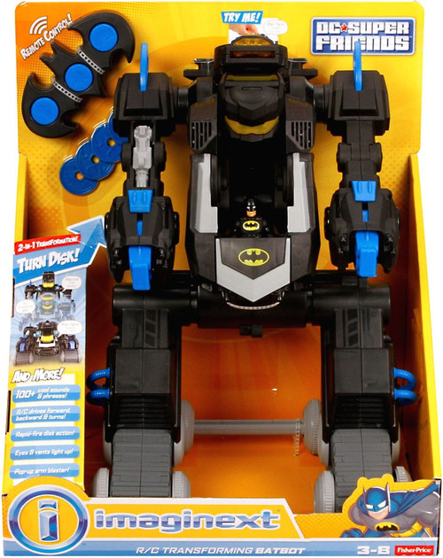Fisher Price DC Super Friends Imaginext R/C Transforming Batbot Vehicle [Black & Blue]