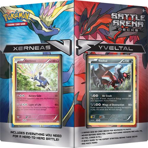 Pokemon Trading Card Game XY Xerneas vs Yveltal 2-Player Battle Arena Decks