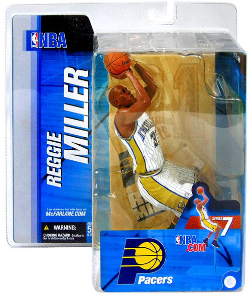 McFarlane Toys NBA Indiana Pacers Sports Picks Series 7 Reggie Miller Action Figure [White Jersey, Damaged Package]