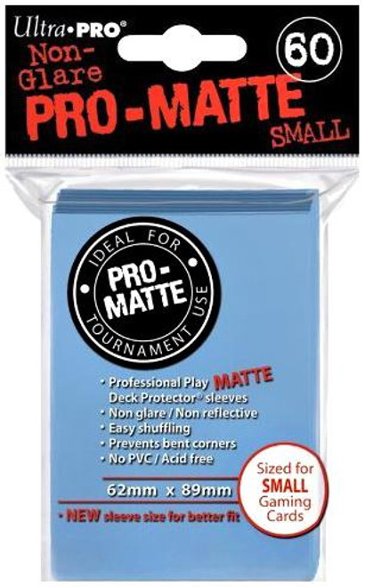 Ultra Pro Card Supplies Non-Glare Pro-Matte Light Blue Small Card Sleeves [60 Count]