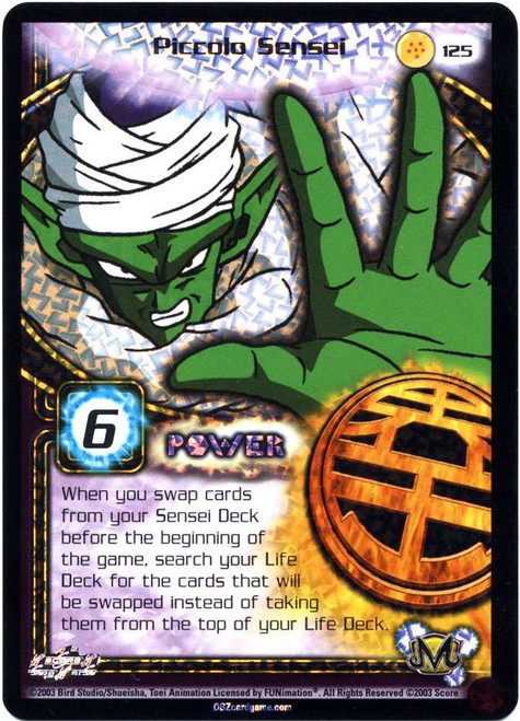 Dragon Ball Z Trading Card Game Kid Buu Saga Ultra Rare Piccolo Sensei #125