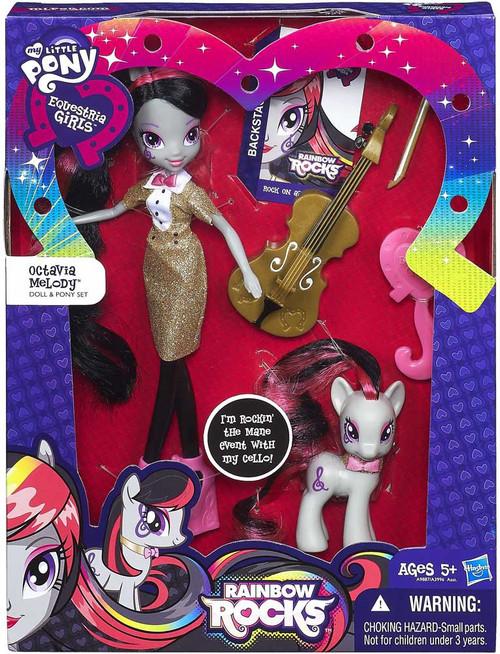 My Little Pony Equestria Girls Rainbow Rocks Octavia Melody 9-Inch Doll & Pony Set