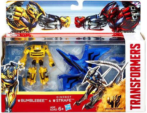 Transformers Age of Extinction Bumblebee & Dinobot Strafe Exclusive Action Figure 2-Pack