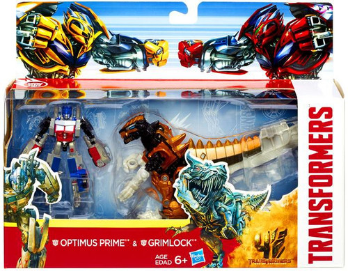 Transformers Age of Extinction Optimus Prime & Grimlock Exclusive Action Figure 2-Pack