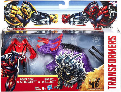 Transformers Age of Extinction Decepticon Stinger & Dinobot Slug Exclusive Action Figure 2-Pack