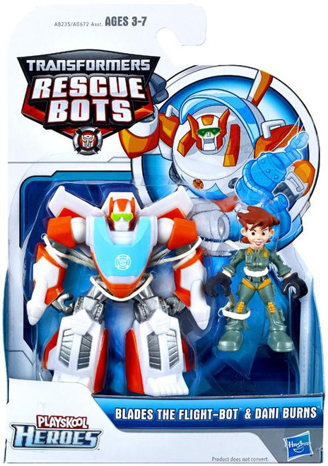 Transformers Playskool Heroes Rescue Bots Blades The Flight-Bot & Dani Burns Action Figure