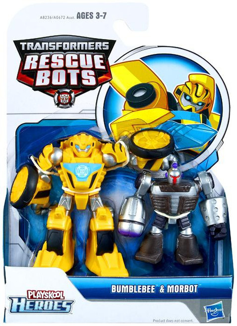 Transformers Playskool Heroes Rescue Bots Bumblebee & Morbot Action Figure 2-Pack