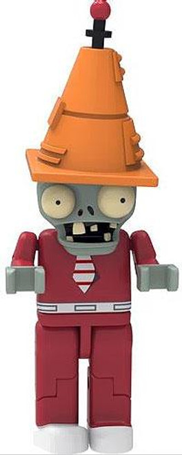 K'NEX Plants vs. Zombies Series 1 Future Conehead Zombie 2-Inch Minifigure [Red Suit Loose]
