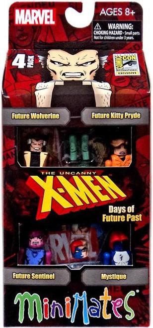 The Uncanny X-Men Minimates Days of Future Past Exclusive Minifigure 4-Pack