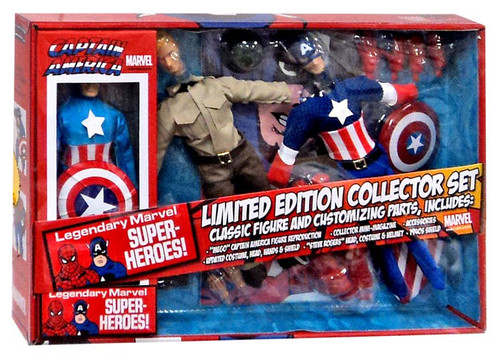 Marvel 8 Inch Retro Captain America Action Figure Set