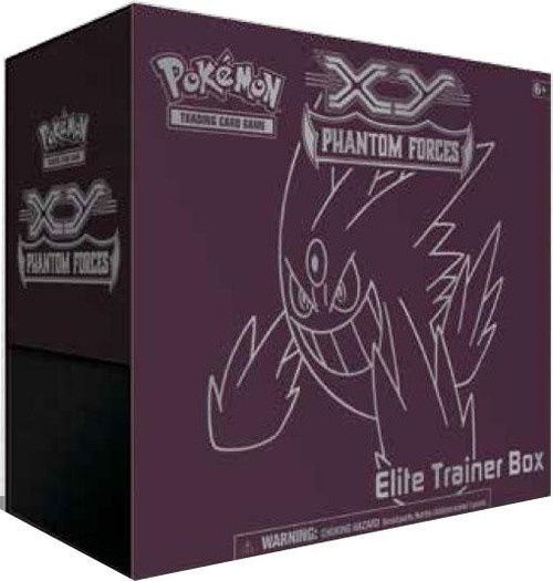 Pokemon Trading Card Game XY Phantom Forces Gengar Elite Trainer Box [8 Booster Packs, 65 Card Sleeves, 45 Energy Cards & More]