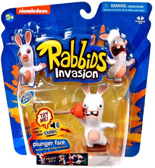 McFarlane Toys Raving Rabbids Rabbids Invasion Plunger Face Action Figure