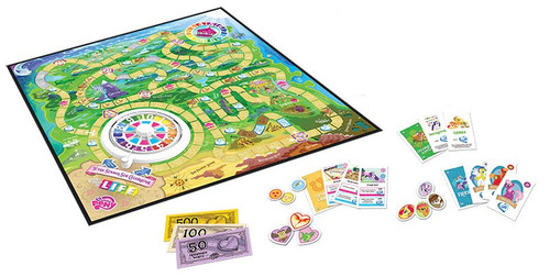 My Little Pony Friendship is Magic Life Board Game Game Board & Accessories [NO FIGURES! Loose]