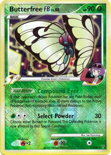 Trading Card Game Pokemon League Promo Rare Holo Butterfree FB #17